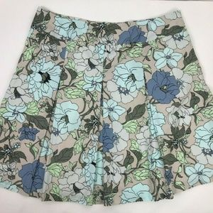 Talbots Woman Lined Floral Print Fit Flare Skirt